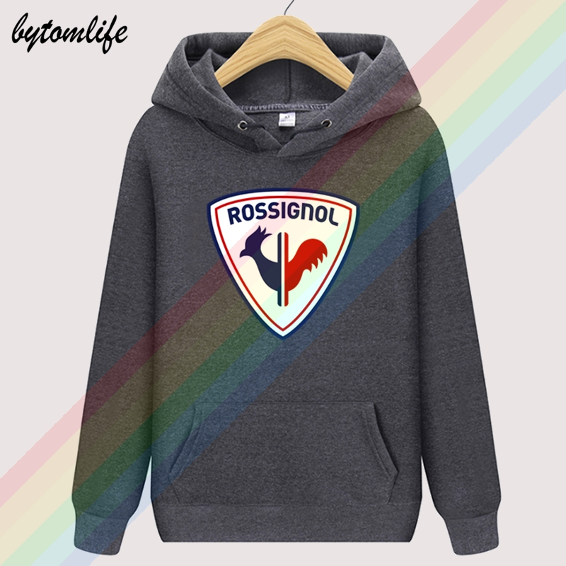 Asian size Retro Rossignol Logo Autumn Black Brand Hoodies Limitied Edition Top Hoodie Mens Outdoor Clothing Sweatshirt Pullover