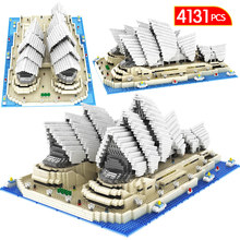 4131PCS Diamond Mini Bricks Famous City Architecture Sydney Opera House Model Building BlocksToy For Children Gift