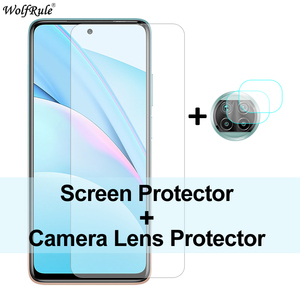 Image 1 - 2 sztuk folia ochronna na ekran do Xiao mi mi 10T Lite szkło mi 10 Pro 9 Lite ochronna folia na aparat ze szkła hartowanego do mi 10T Lite