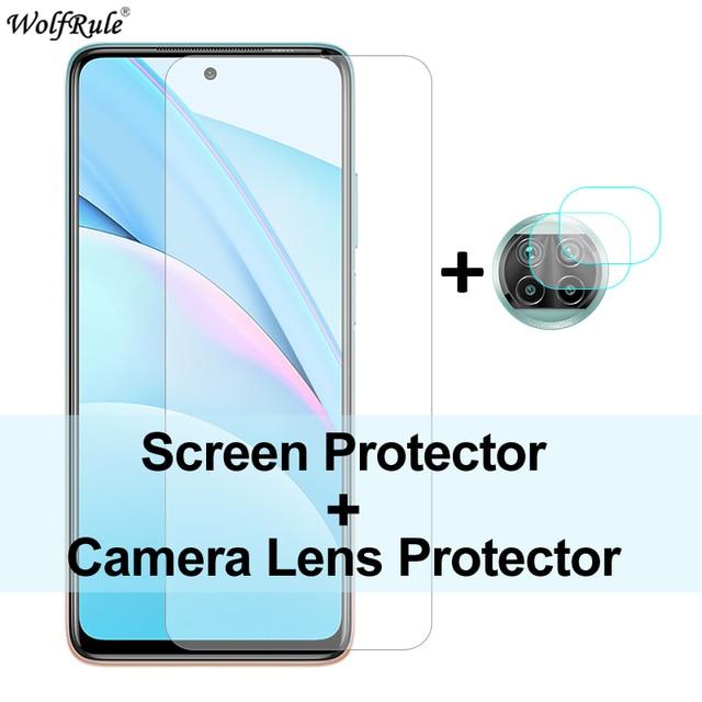 2 sztuk folia ochronna na ekran do Xiao mi mi 10T Lite szkło mi 10 Pro 9 Lite ochronna folia na aparat ze szkła hartowanego do mi 10T Lite
