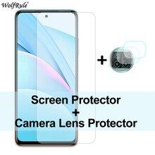 2Pcs Protezione dello schermo per Xiaomi Mi 10T Lite Vetro Mi 10 Pro 9 Lite Pellicola protettiva per fotocamera in vetro temperato per Mi 10T Lite