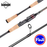SeaKnight LEC LES 2.1M 2.4M 2 Section Carbon Lure Rod Spinning Casting Fishing Rod FUJI Ring FUJI Seat Wooden Handle Casting Rod