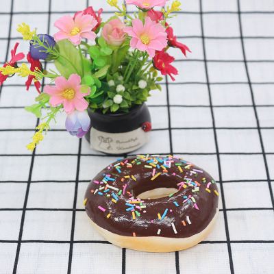 Squishy Slow Rebound Donut PU Simulation Donuts Simulation Food Decompression Antistress Slow Funny Mischievous Toy For Children