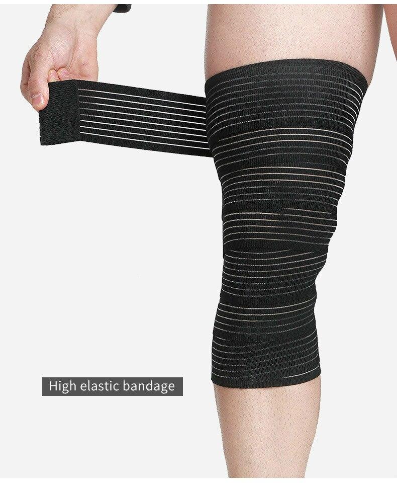 1pcs Adjustable Knee Support Bandage Elastic Compression Wrap Knee