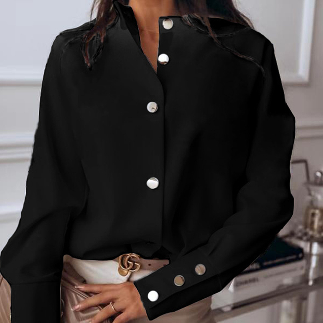 Spring Casual Long Sleeve Blouse  2