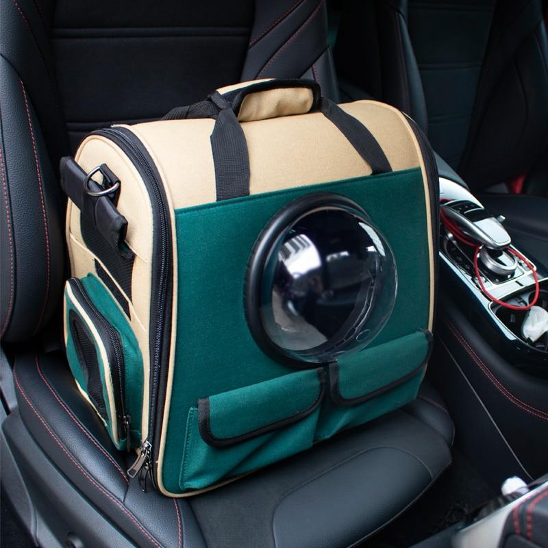 Alta qualidade dobrável astronauta transporte viagem transportando cápsula tote bolsa de ombro gato cão mochila pet transportadora saco