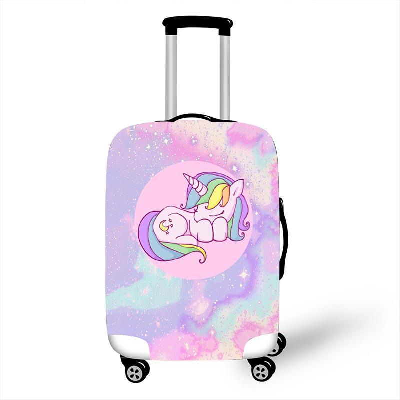 Pink Small Cartoon Unicorn Luggage Protective Covers For 18 To 32 Inch Suitcase Cover Elastic Dust Trolley Case Protection Cover