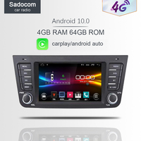 4G SIM LTE Android 10.0 Octa 8 Core 4GB RAM 8GB ROM Car DVD Player for Geely Emgrand GX7 EX7 X7 GPS RDS Radio Bluetooth 2 din