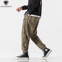 Aolamegs спортивные брюки мужские повседневные полосатые с принтом