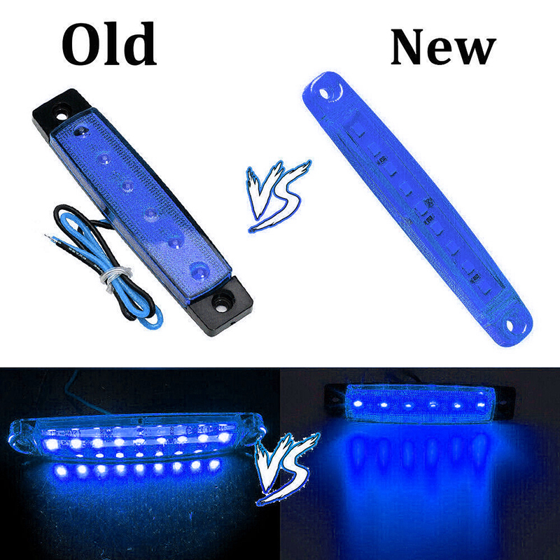 Replacement Side Lights Parts Car Bus Marker Waterproof 24V Lamp ABS Plastic Set 9LED Truck
