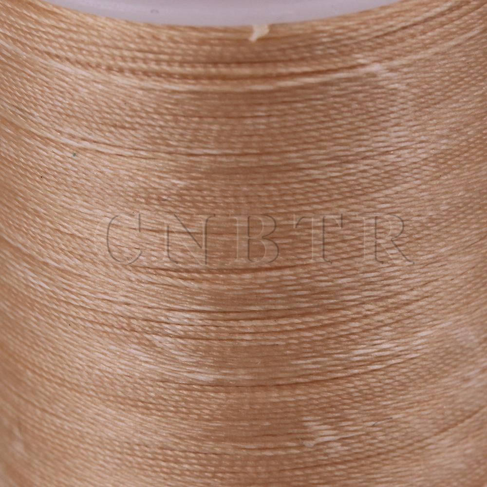 Beige 3-Ply Waxed Polyester Cord Leather Sewing Thread Round 300M 0.35MM