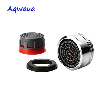 Aqwaua kran oszczędzający wodę Aerator 24MM gwint męski 4L Min wylewka Bubbler Tap filtr żuraw dysza akcesoria akcesoria tanie i dobre opinie Aeratorów M24*1 Male 4L Mosiądz M24*1 Male Thread 1x aerator core with shell 1x gasket