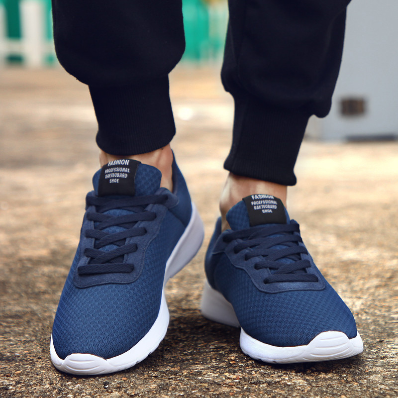 Men Shoes Sneakers Male Vulcanized Shoes Lightweight Footwear Black Tenis Masculino Casual Shoes Air Mesh Zapatos De Hombre 2020