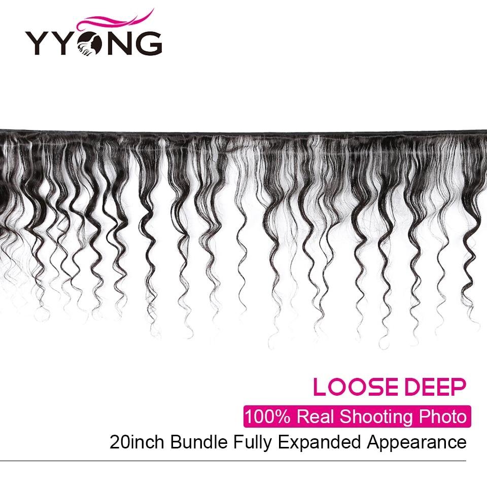 YYong Loose Deep Wave Bundles With Frontal   3/4 Bundles With Closure  Hair Lace Frontal With Bundles 2