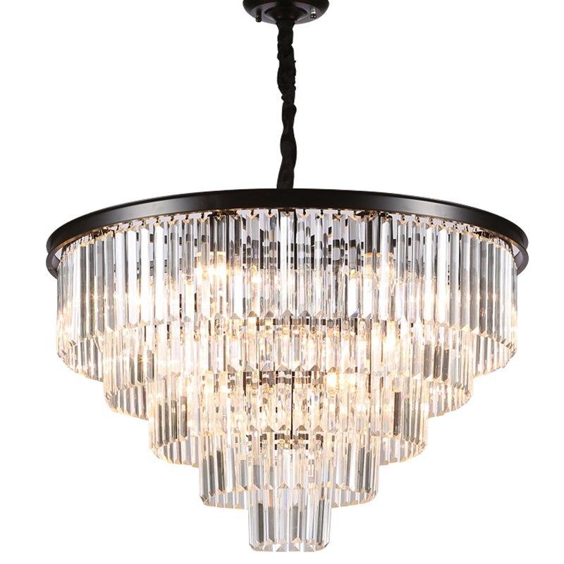 D100CM américain simple cristal salon plafonnier de luxe restaurant hôtel 110-220v