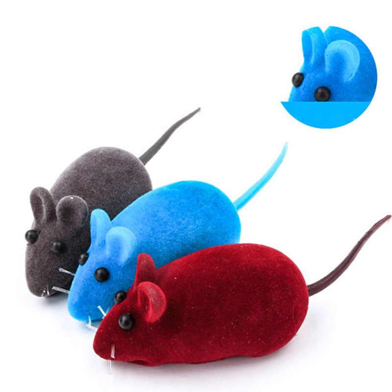 1 adet kesim akın fare komik kedi oyuncak ses peluş kauçuk vinil fare Pet kedi kedi gerçekçi ses oyuncak oyuncak fare renkler rastgele