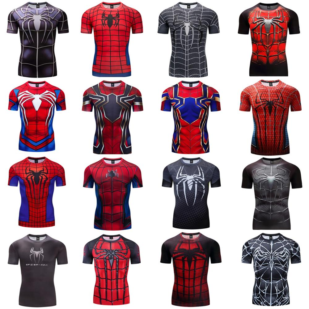 Iron-Spider PS4 Spiderman Cosplay Costume Premium 3D Printed Costume Compression T-shirt Finess Gym Quick-Drying Tight Tops