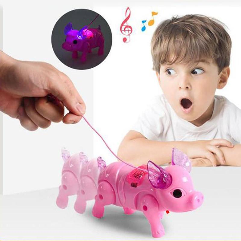 Electric Walking Singing Musical Light Pig Smooth Appearance Superb Craftsmanship With Lease Children Kids Toys Present