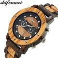 Shifenmei деревянные мужские часы Топ бренд класса люкс кварцевые часы мужские модные Дата дисплей многофункциональные часы relogio masculino