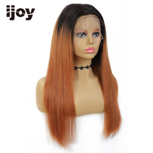 Image 3 - 4X13 Lace Front Human Hair Wigs Ombre Straight Lace Wig Honey Blonde Brazilian Hair Wig For Women Pre Plucked Wig Non Remy IJOY