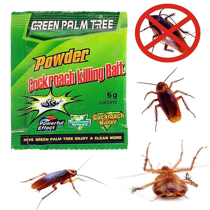 5PCS/Lot Effective Killer Cockroach Powder Bait Special Insecticide Bug Beetle Cucaracha Medicine Insect Reject Pest Control