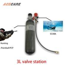 AC103301 цилиндр Pcp пневматическая винтовка 3л 4500Psi акваланга подводная пушка углеродное волокно клапан акваланга бак Acecare