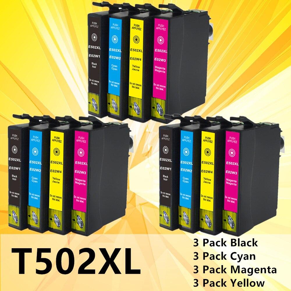 cartucho de tinta para epson 502 t502 xl para a expressao premium xp5100 xp5105 wrokforce wf