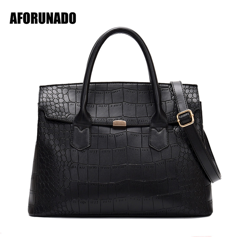 Luxury Handbags Women Bags Designer High Quality Vintage Crocodile Leather Tote Fashion Shoulder Crossbody Bags For Women 2019