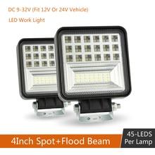 цена на 2pcs/4pcs 4inch 48W Car Off-Road SUV LED Work Light Bar Driving Fog Lamp Spotlight 40000LM 6000K Truck Boat Forklift Work Light