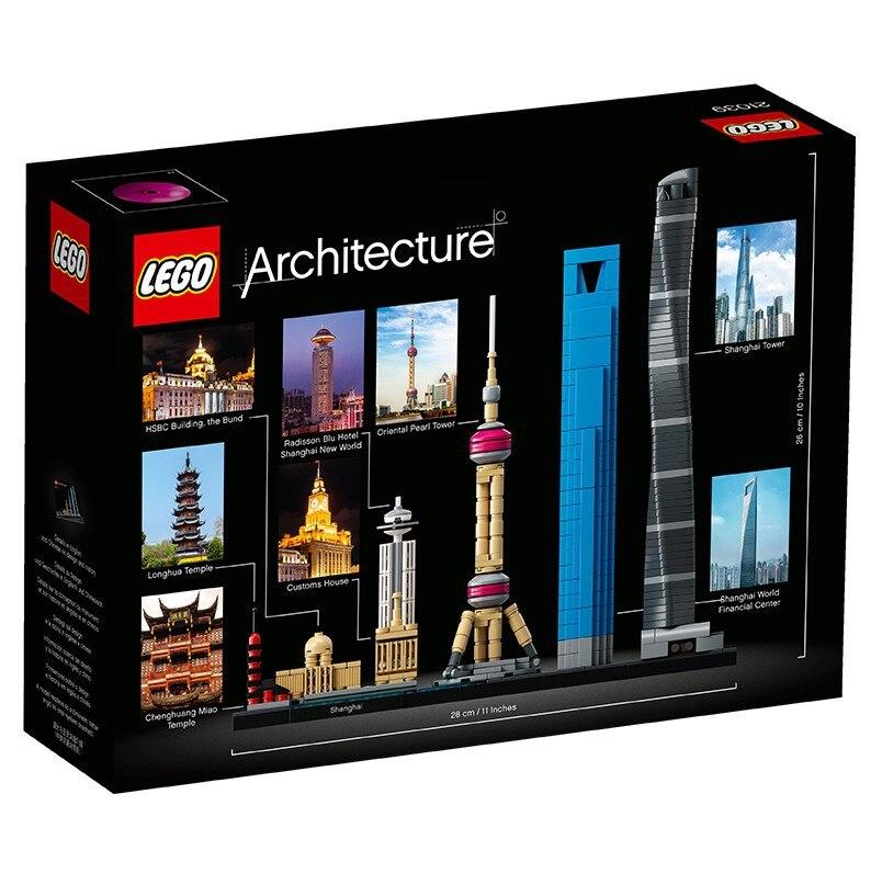 LEGO Architecture Series 21039 Skyline Shanghai Building Blocks Toy