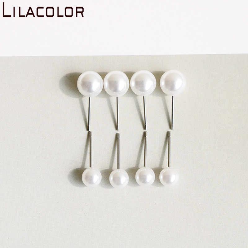 Lilacolor 1 ペアファッション模造真珠女性のスタッドピアス 2019 6 センチメートル/8 センチメートル耳ジュエリーアクセサリースタッドのイヤリング女の子のためのギフト
