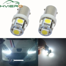2pcs 5 SMD 5050 LED T11 BA9S White Red Green Blue Yellow 5SMD T4W 182 1445 H6W 53 Car Indicators Bulb Light Wedge Lamp New for car lighting 10pcs lot t11 ba9s 5050 5 smd led white light bulb car light source car 12v lamp t4w 3886x h6w 363 mayitr