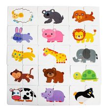 цена Baby Infant 32pcs Flash Card Jigsaw Cognition Puzzle Shape Matching Puzzle Cognitive Learning Early Education Card Learning Toys онлайн в 2017 году