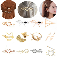 Jewelry-Accessories Hair-Clip Star Fashion Women Cat Heart Leaf Delicate