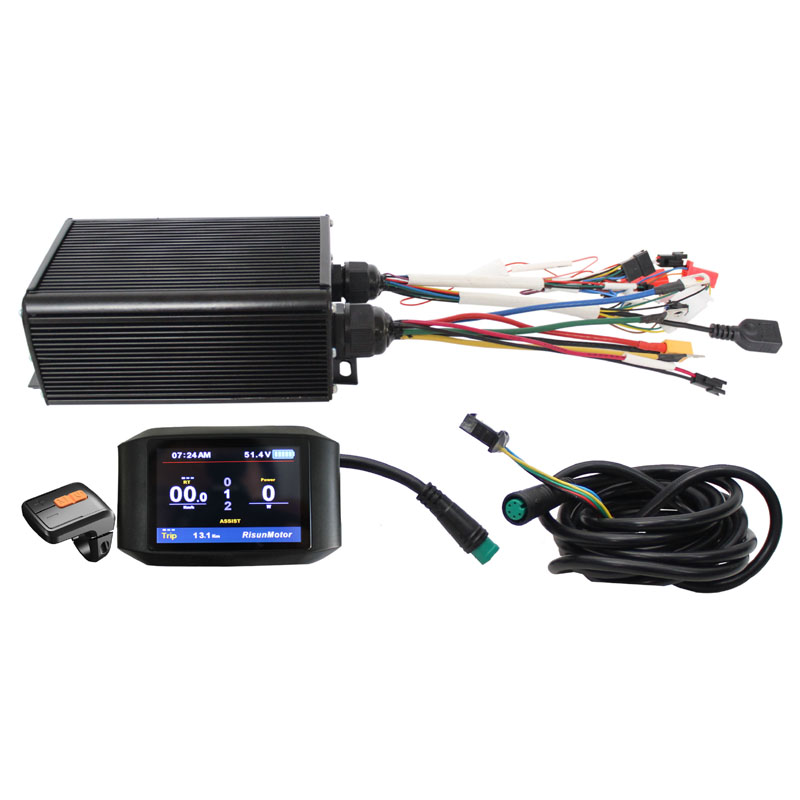 Ebike Exclusive Customized 36V 48V 60V 72V 1500-2200W Programmable 45A Controller Reg Function With Color 750C Display