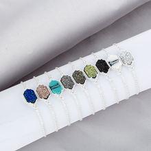 Разноцветные металлические регулируемые браслеты из искусственных