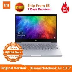 Originele Xiao Mi Mi Notebook Air 13.3 Mi Laptop Vingerafdrukherkenning I5-7200U Intel Core 8 Gb DDR4 256 Gb pcie Ssd Windows 10