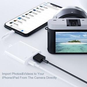 Image 4 - OTG محول ل البرق إلى كاميرا بـ USB محول كابل OTG لباد آيفون مع شحن ميناء محول البيانات ل U القرص لوحة المفاتيح