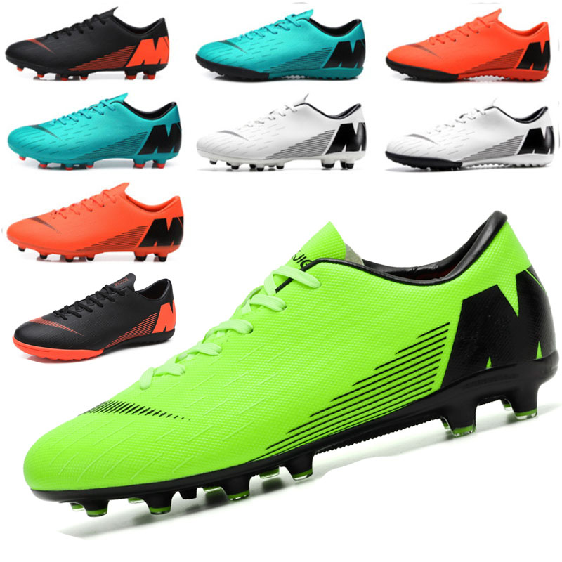 Football Shoes Men Turf Spikes Football Boy Women Outdoor Athletic Trainers Sneakers Adults Brand Professional Soccer Futbol