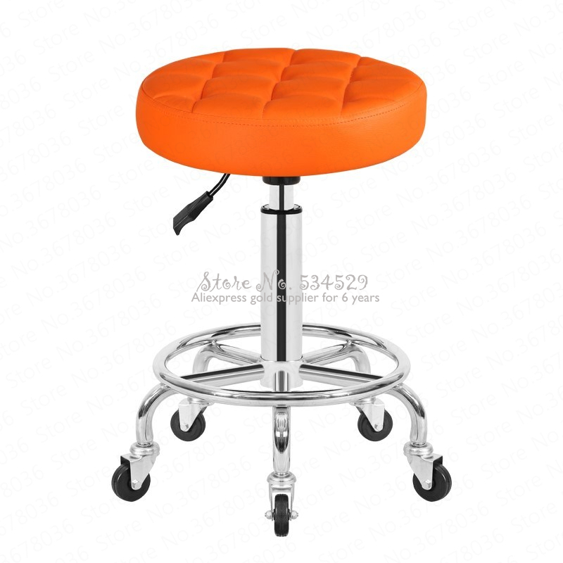 27%Beauty Stool Pulley Work Chair Rotary Lift Makeup Chair Beauty Chair Beauty Salon Special Round Stool