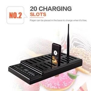 Image 3 - Retekess T112 ile restoran çağrı cihazı 20 çağrı alıcıları uzun menzilli restoran klinik kuyruk sistemi garson çağrı sistemi