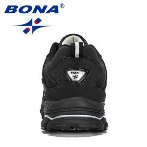 Image 3 - Мужские кроссовки из коровьего спилка BONA, черные дизайнерские кроссовки для бега, спортивная обувь, 2019