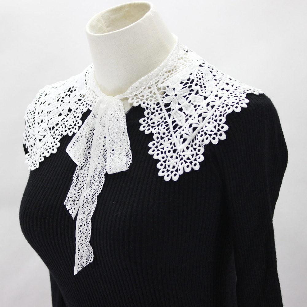 Dickie Out Hollow Hollow Out Shawl Dress Decoration Detachable Fake Collar For Women