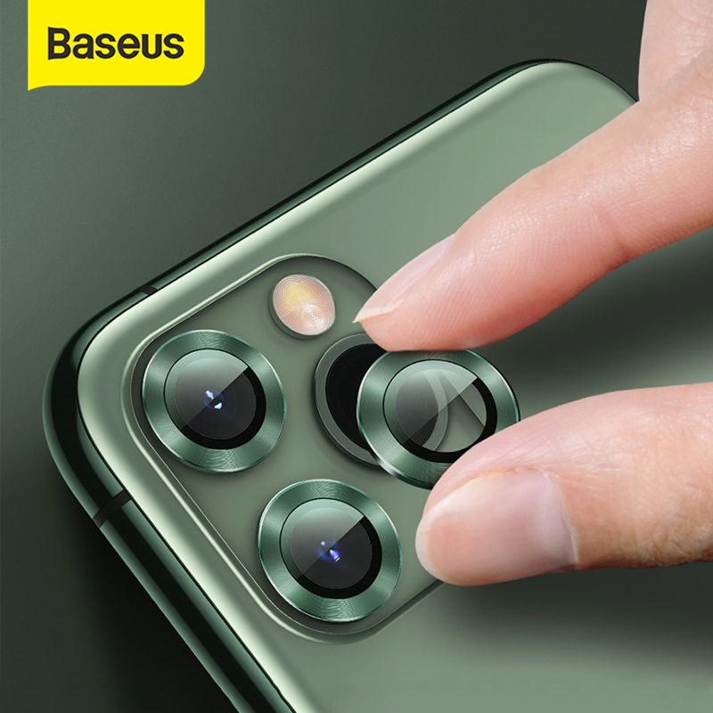 Baseus 0.4mm Rear Camera Ring For IPhone 11 Camera Lens Screen Protector For IPhone 11 Pro Max Glass Back Cover Protection Case
