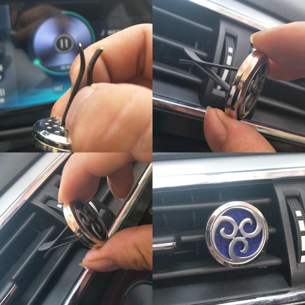 新しいアロマディフューザーアロマジュエリー車の香水ディフューザー磁気ラブハートアロマディフューザーネックレスロケット車ホットカーアロマ芳香剤ベントクリップ