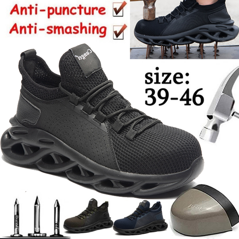 Cungel Steel Toe Shoes Men, Safety Work