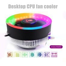 COOLMOON Q2 RGB 3 Pin Cooling Fan Heatsink CPU Cooler Radiator for Inter 775/1366/1156/1155/1151/1150 AMD AM2/AM2+/AM3/AM3+/AM4