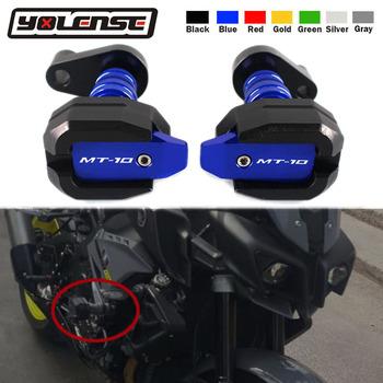 Dla YAMAHA MT-10 MT10 MT 10 FZ-10 FZ10 FZ 10 zabezpieczenie przed upadkiem motocykla rama suwak Fairing straż podkładka chroniąca drzwi przed obiciem Protector tanie i dobre opinie YOLENSE 0inch L00935-12 Falling ochrona CNC Aluminum 0 4kg