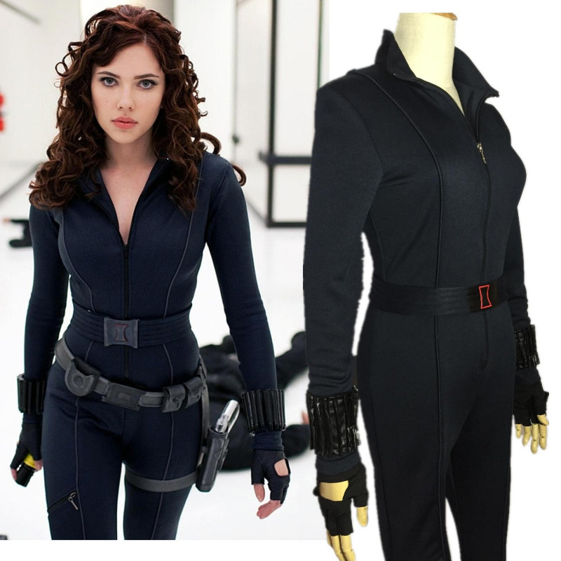Avengers Black Widow Cosplay Costume Halloween Women