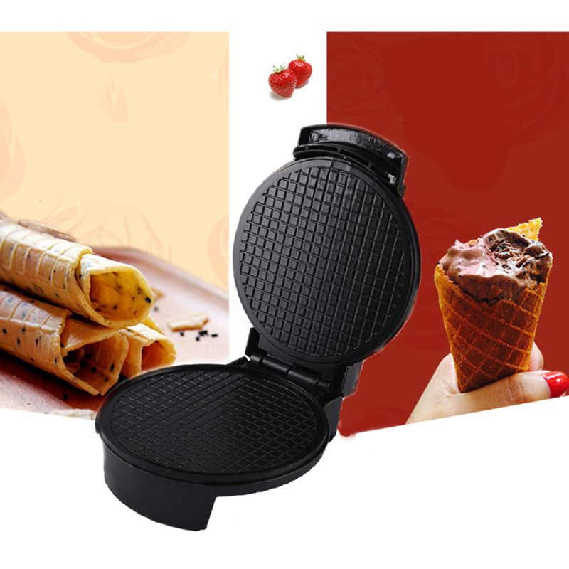 Electric Ice Cream Waffle Cone Maker Bake Machine Stainless Steel Nonstick House Cone Maker EU Plug
